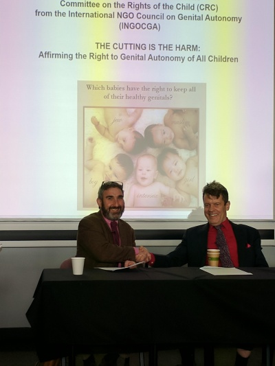 Antony and Steven 'Supporting the United Nations in Developing Awareness of All Forms of Genital Cutting'